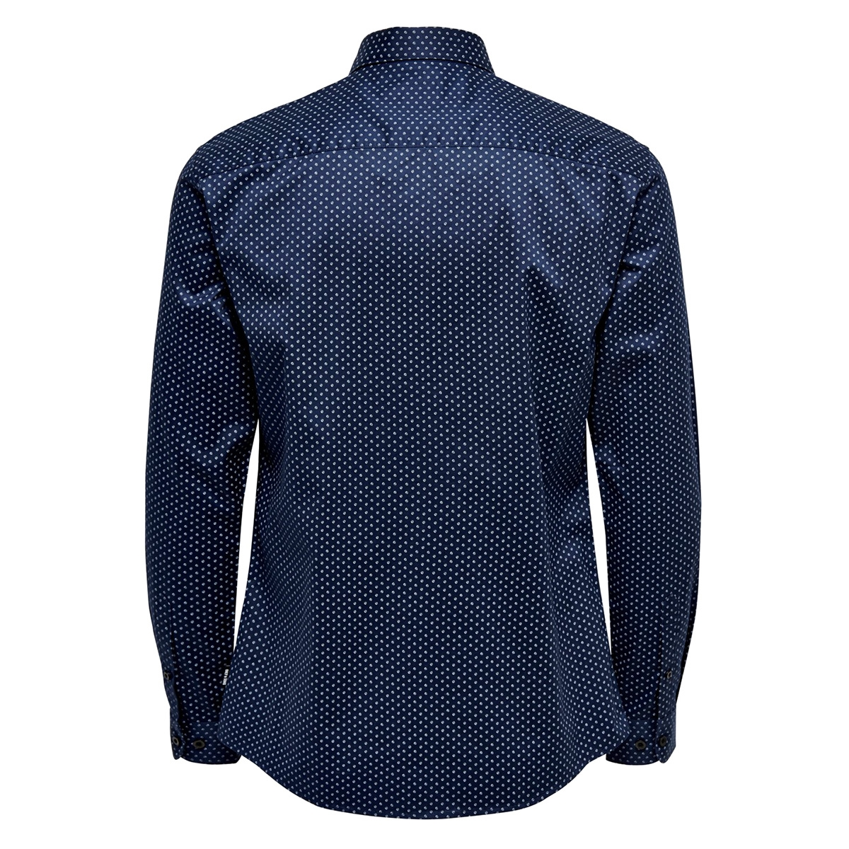 onsalves ls 2-ply aw simple aop shirt 22015030 only & sons overhemd dress blues
