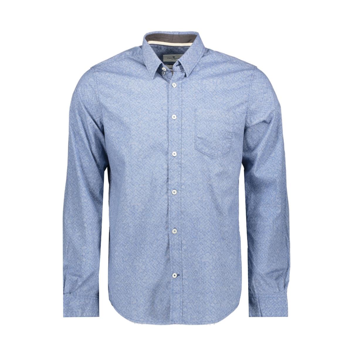 overhemd met all over print 1015314xx10 tom tailor overhemd 20749