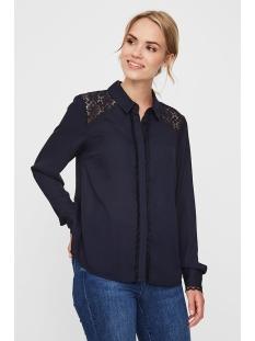 vmsimone ls shirt wvn ga 10225623 vero moda blouse night sky/solid