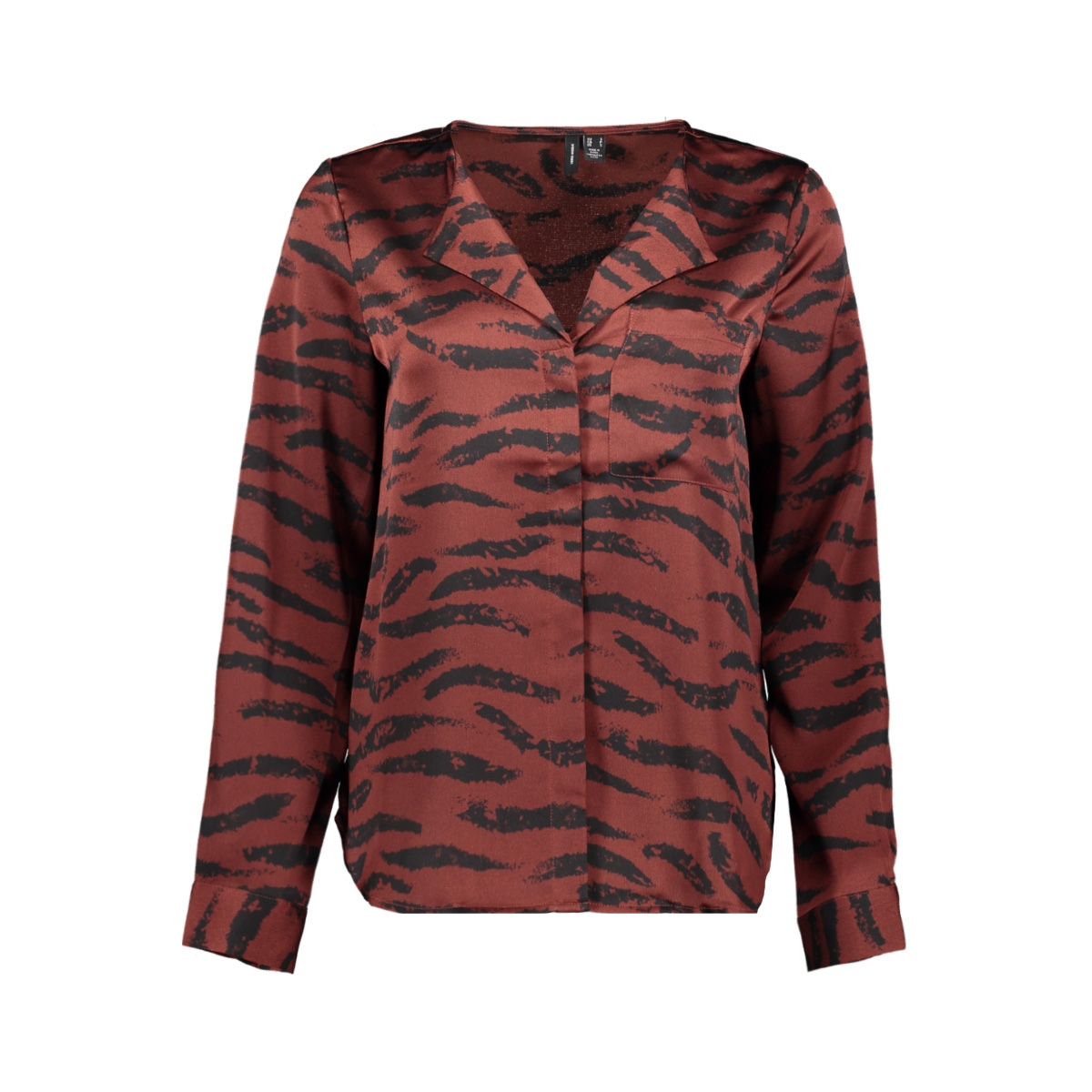 vmrina l/s v-neck shirt exp 10233078 vero moda blouse sable/rina