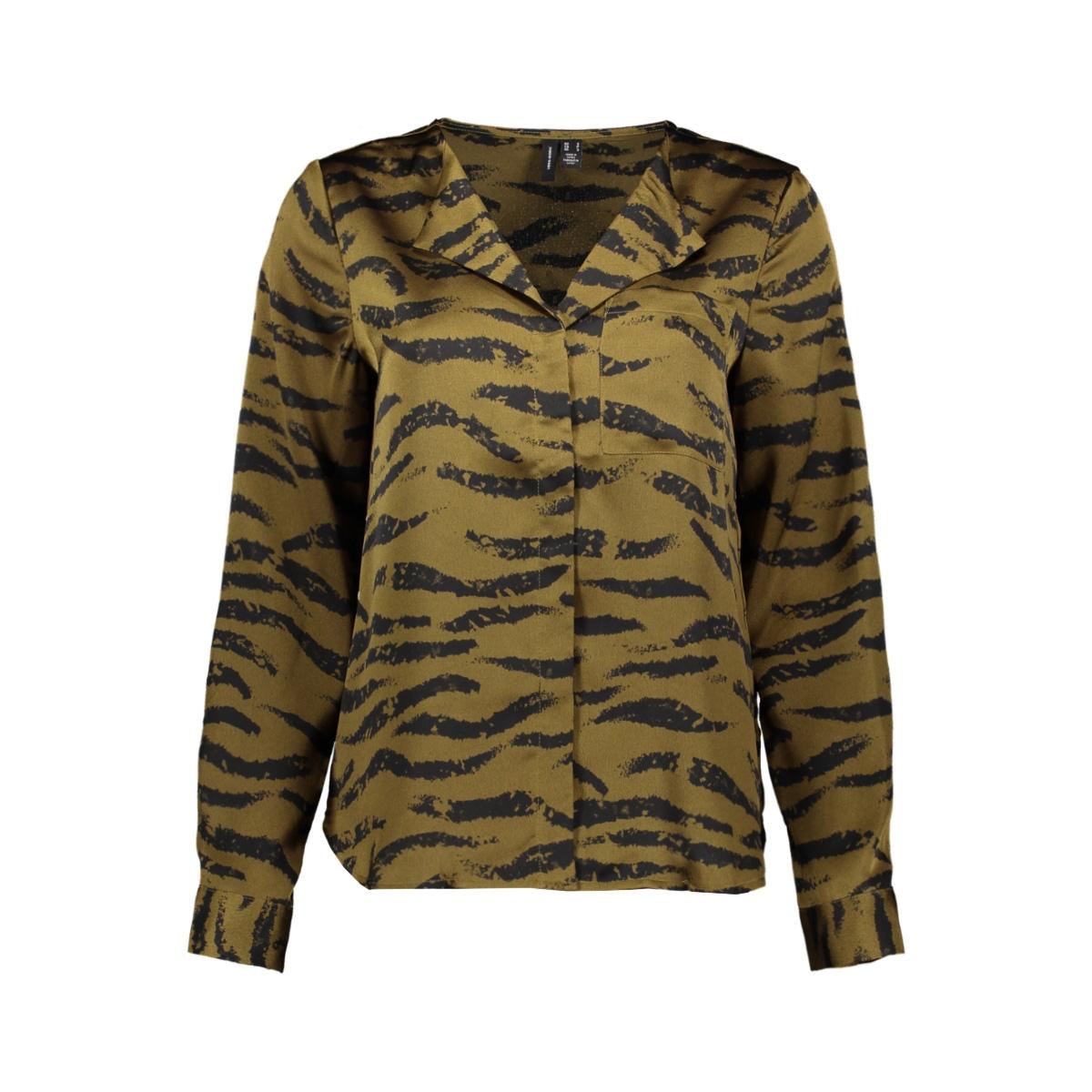 vmrina l/s v-neck shirt exp 10233078 vero moda blouse military olive/rina