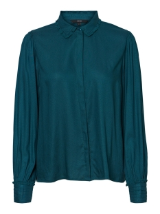 Vero Moda Blouse VMTEA LS SHIRT WVN 10225549 Atlantic Deep/SOLID