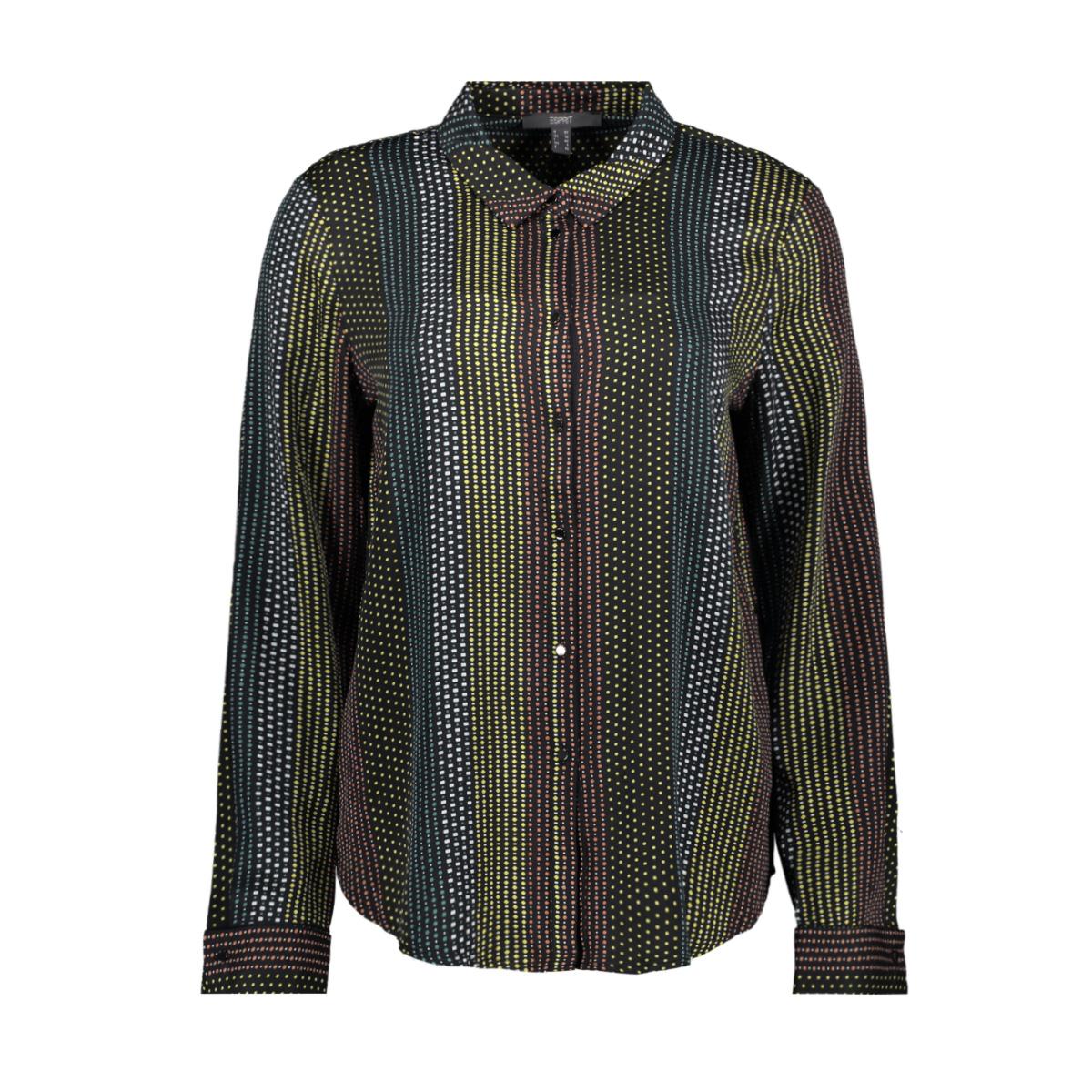 blouse met stippenpatroon 129eo1f005 esprit collection blouse e003