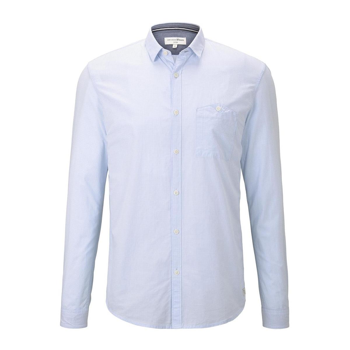geruit overhemd 1014649xx12 tom tailor overhemd 20506