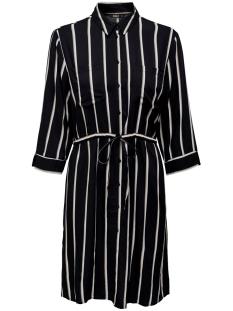 Only Jurk ONLTAMARI 3/4 SHIRT DRESS WVN NOOS 15185738 Black/WHITE/CAMEL