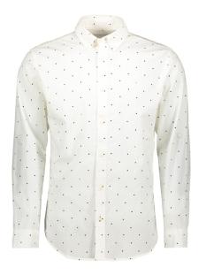Jack & Jones Overhemd JCOAOP SHIRT LS PLAIN 12162454 White/SLIM