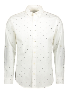 jcoaop shirt ls plain 12162454 jack & jones overhemd white/slim