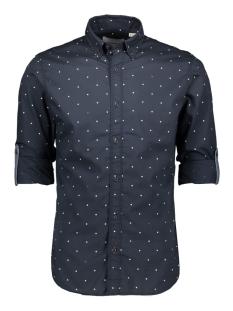 jcoaop shirt ls plain 12162454 jack & jones overhemd sky captain/slim