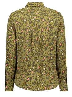 onlsenora l/s shirt wvn 15194091 only blouse martini olive/neon leo