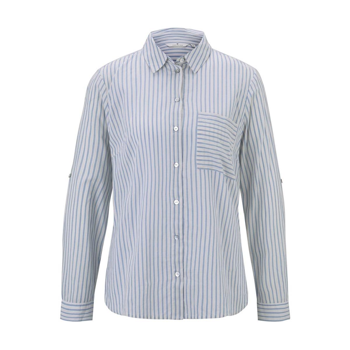 gestreepte overhemdblouse 1016162xx70 tom tailor blouse 21424