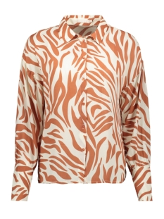 Pieces Blouse PCDINA LS SHIRT KAC 17105757 Copper Brown/ZEBRA