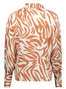 pcdina ls shirt kac 17105757 pieces blouse copper brown/zebra