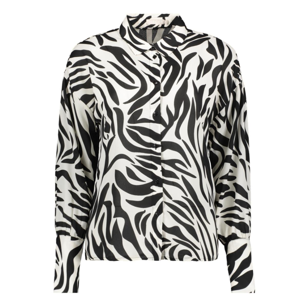 pcdina ls shirt kac 17105757 pieces blouse black/zebra