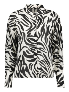 Pieces Blouse PCDINA LS SHIRT KAC 17105757 Black/ZEBRA