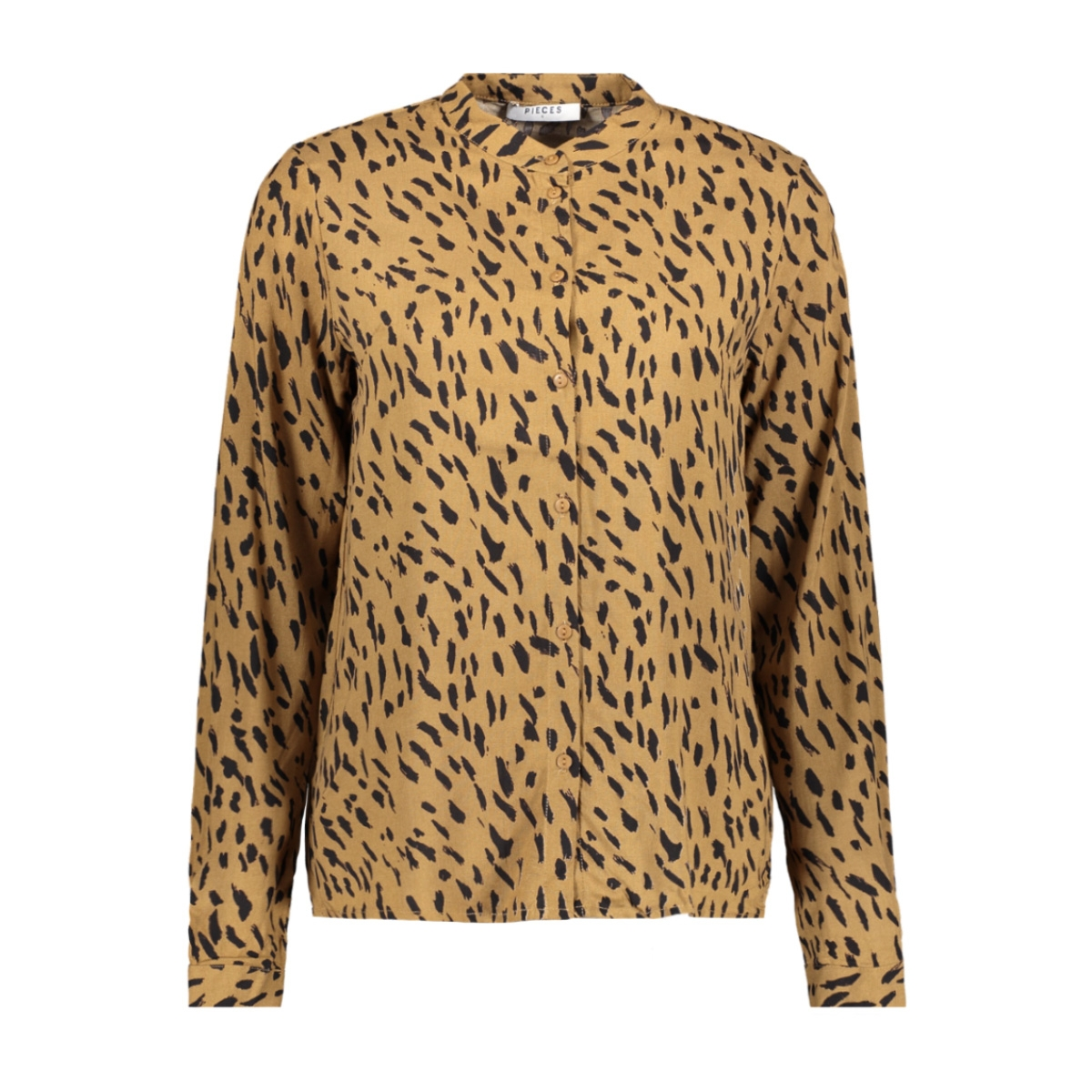 pckaitlyn ls shirt bf 17102254 pieces blouse toasted coconut/animal dot