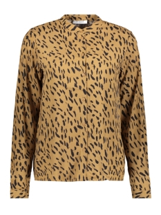 Pieces Blouse PCKAITLYN LS SHIRT BF 17102254 Toasted Coconut/ANIMAL DOT