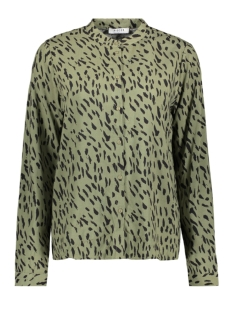 Pieces Blouse PCKAITLYN LS SHIRT BF 17102254 Deep Lichen Green/ANIMAL DOT