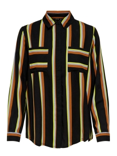 Only Blouse ONLMAI L/S SHIRT WVN 15191629 Black/COOL STRIPE