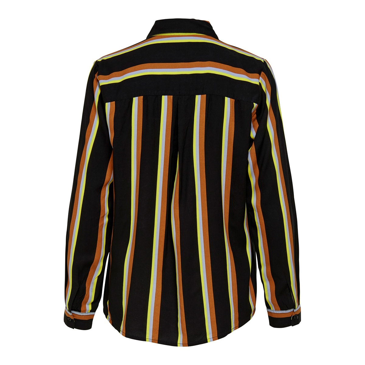 onlmai l/s shirt wvn 15191629 only blouse black/cool stripe