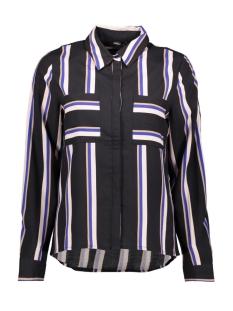 Only Blouse ONLMAI L/S SHIRT WVN 15191629 Black/COOL STRIPE