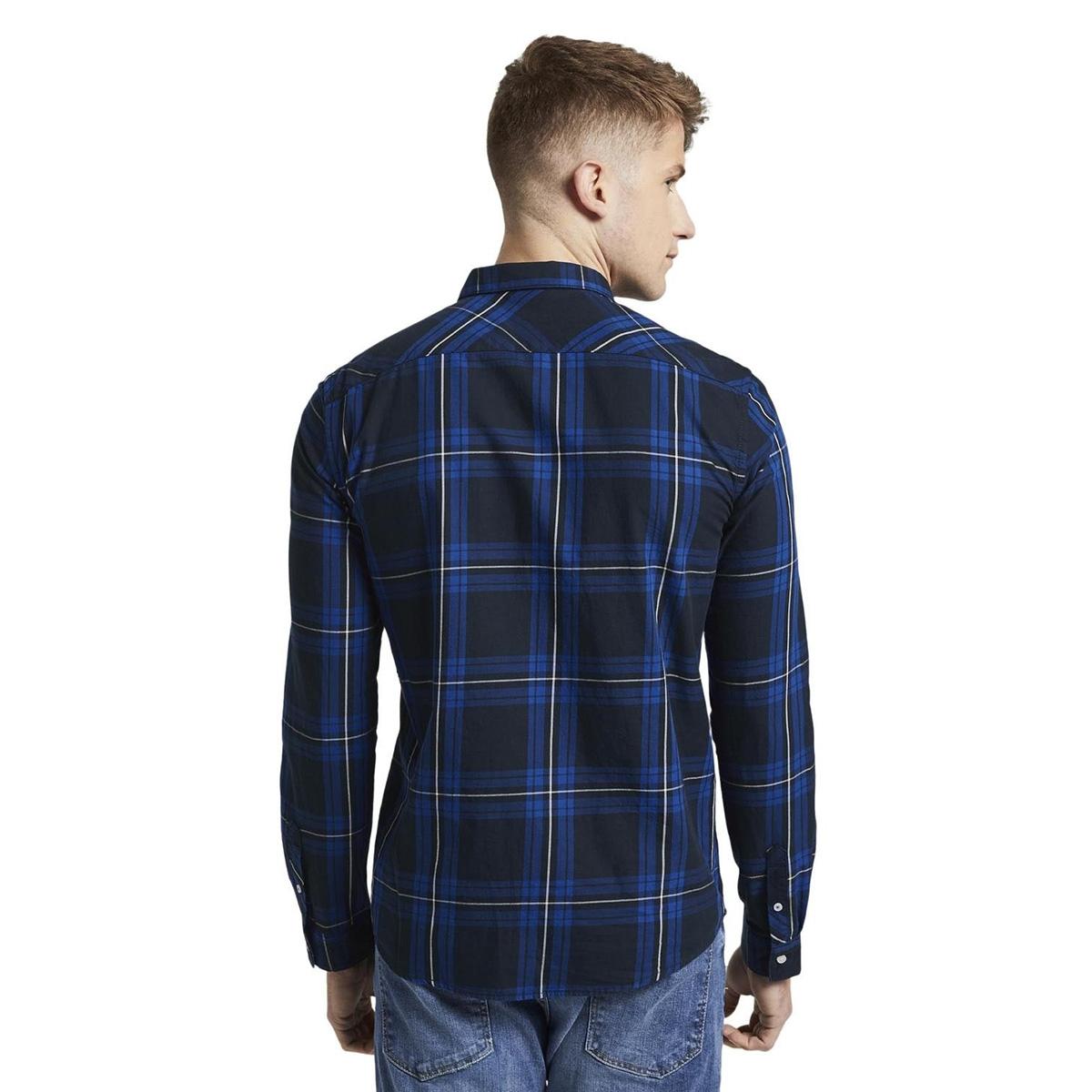 geruit overhemd 1018329xx12 tom tailor overhemd 21568