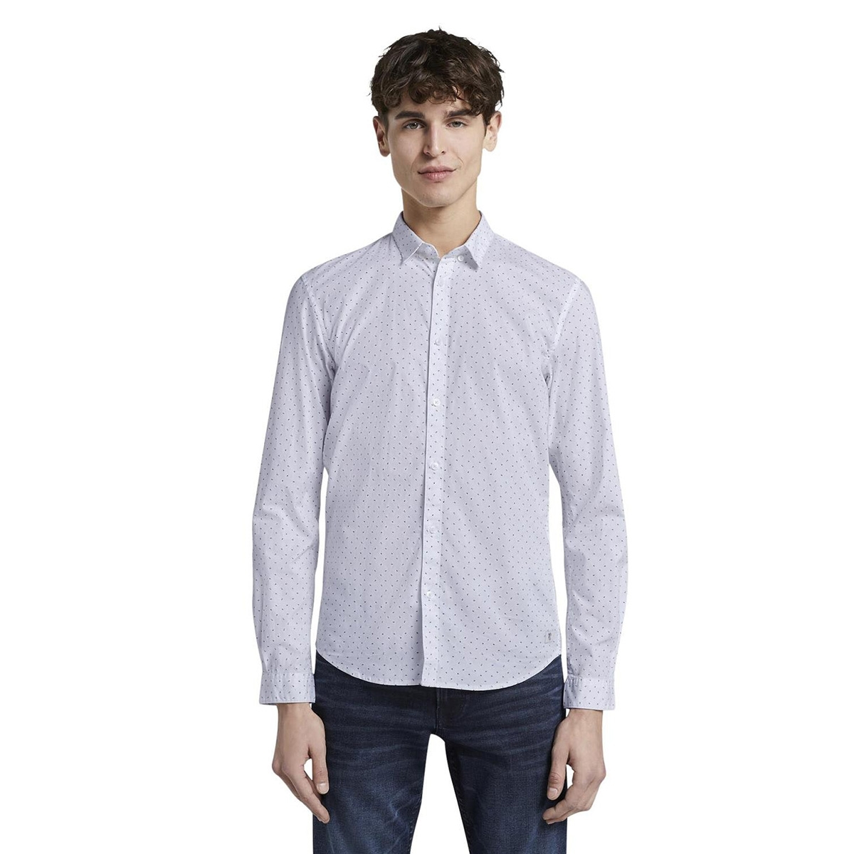 overhemd met all over print 1016214xx12 tom tailor overhemd 21622