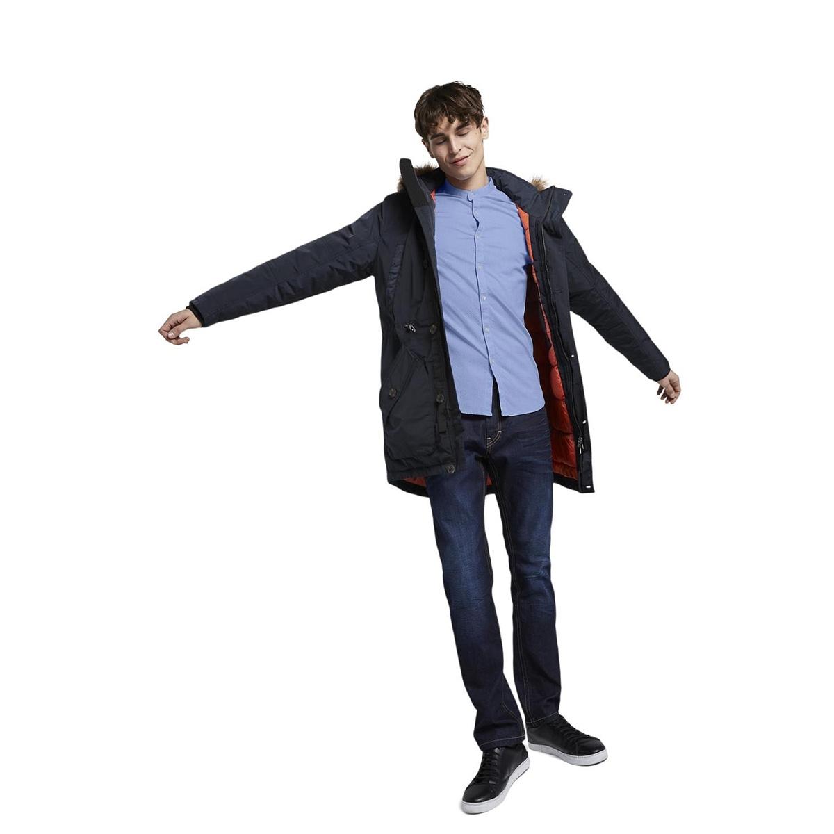 overhemd met textuur 1016819xx12 tom tailor overhemd 21576