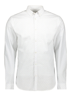 Jack & Jones Overhemd JPRBLALOGO STRETCH AOP SHIRT L/S 12169911 White/SLIM FIT