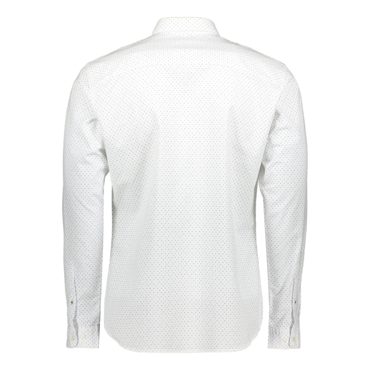 jprblalogo stretch aop shirt l/s 12169911 jack & jones overhemd white/slim fit