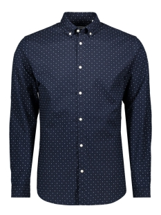 Jack & Jones Overhemd JPRBLALOGO STRETCH AOP SHIRT L/S 12169911 Navy Blazer/SLIM FIT