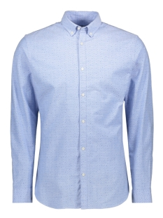 jprblalogo stretch aop shirt l/s 12169911 jack & jones overhemd cashmere blue/slim fit