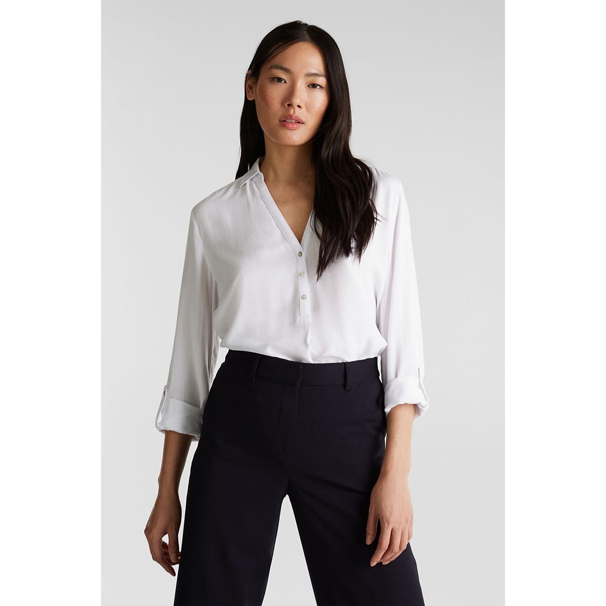 blouse met oprolbare mouwen 990ee1f301 esprit blouse e100