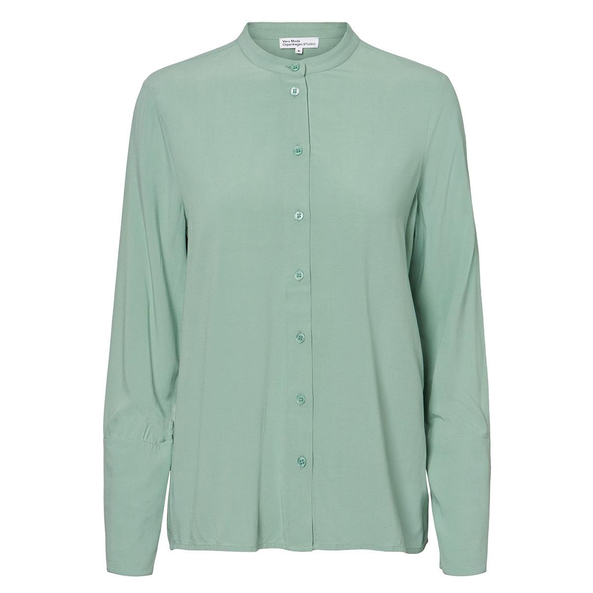 vmhildur ls shirt vmc ga 10224712 vero moda blouse granite green