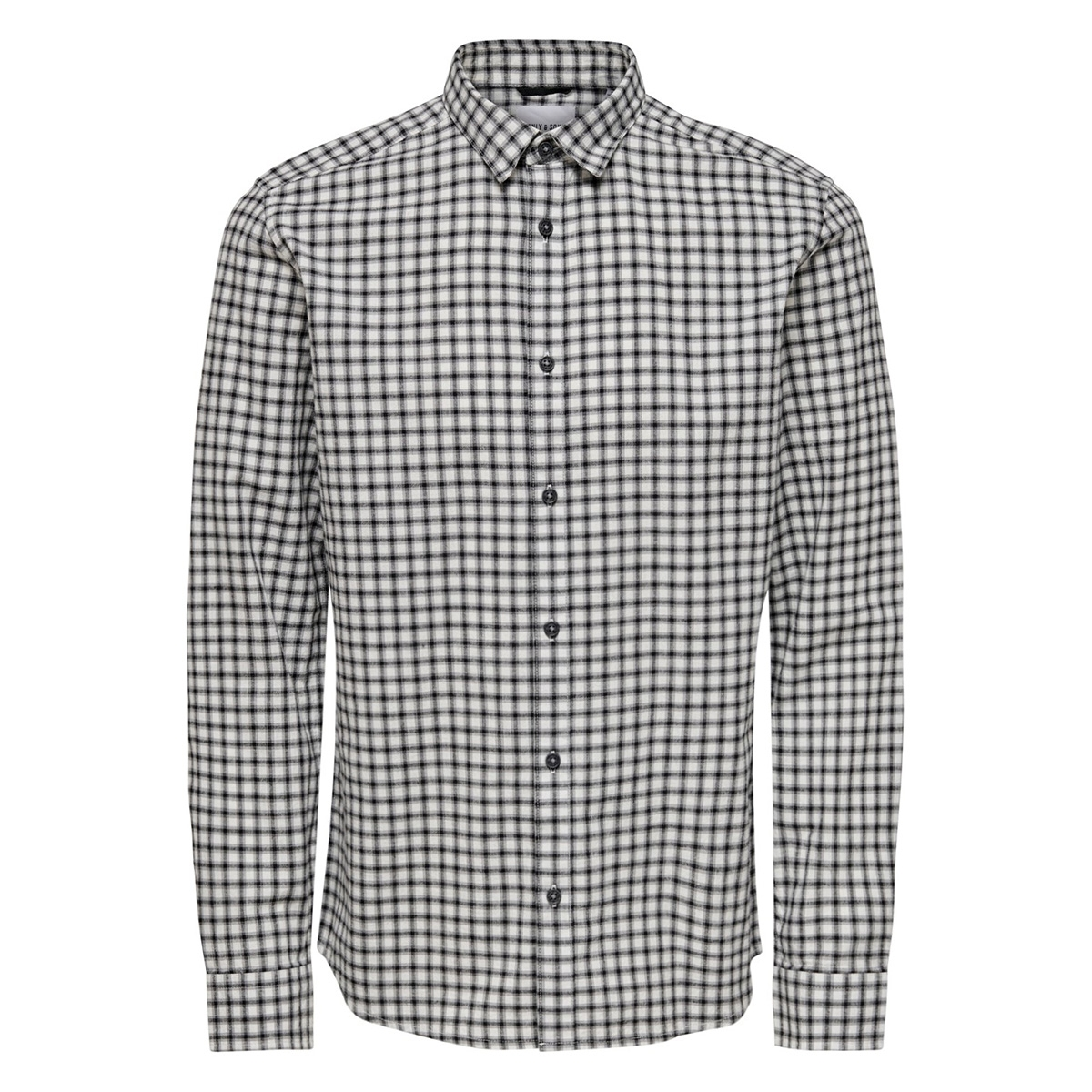 onstony ls yd check shirt re 22012331 only & sons overhemd bright white