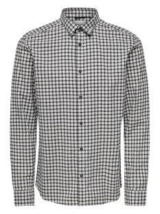 Only & Sons Overhemd ONSTONY LS YD CHECK SHIRT RE 22012331 Bright White