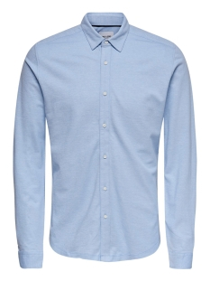 Only & Sons Overhemd ONSCUTON LS KNITTED MELANGE SHIRT RE 22009904 Cashmere Blue