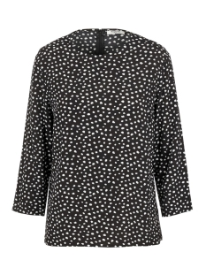 pcnicoletta 3/4 top 17101912 pieces t-shirt black/animal dots