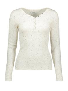 Pieces T-shirt PCNOLO LS HENLEY TOP 17101490 Cloud Dancer/BLACK