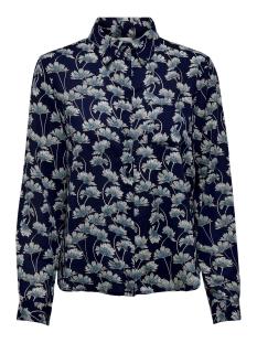 Jacqueline de Yong Blouse JDYMIE L/S SHIRT WVN 15205832 Navy Blazer/FLOWERS
