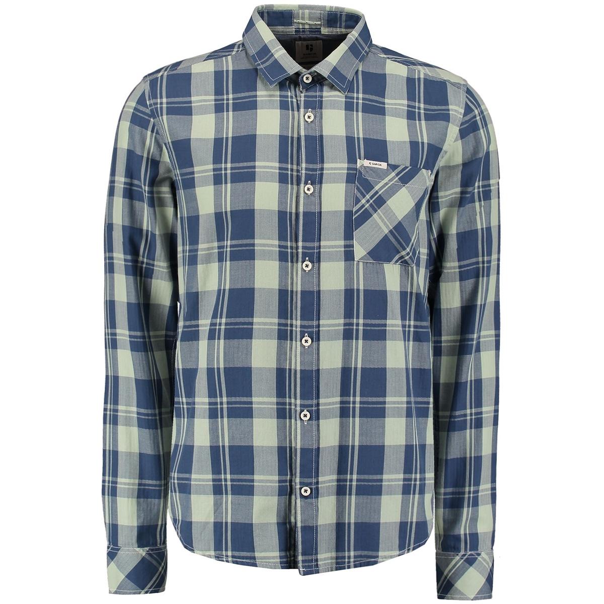 geruit overhemd m01030 garcia overhemd 3020 hill green