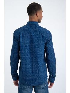 overhemd met all over print m01031 garcia overhemd 3023 blue spring