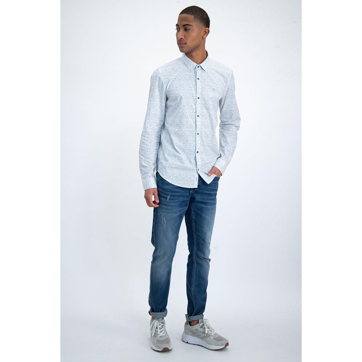 overhemd met all over print m01031 garcia overhemd 50 white