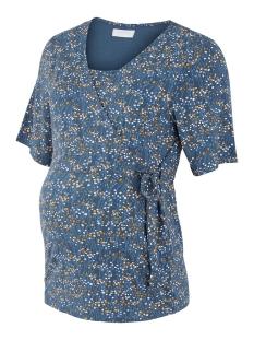 Mama-Licious Positie shirt MLCARLOTTA TESS 2/4 JERSEY TOP 2F A 20010704 Orion Blue/AOP