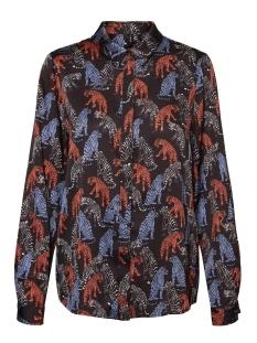 vmlotus l/s shirt vip 10233142 vero moda blouse black/lotus