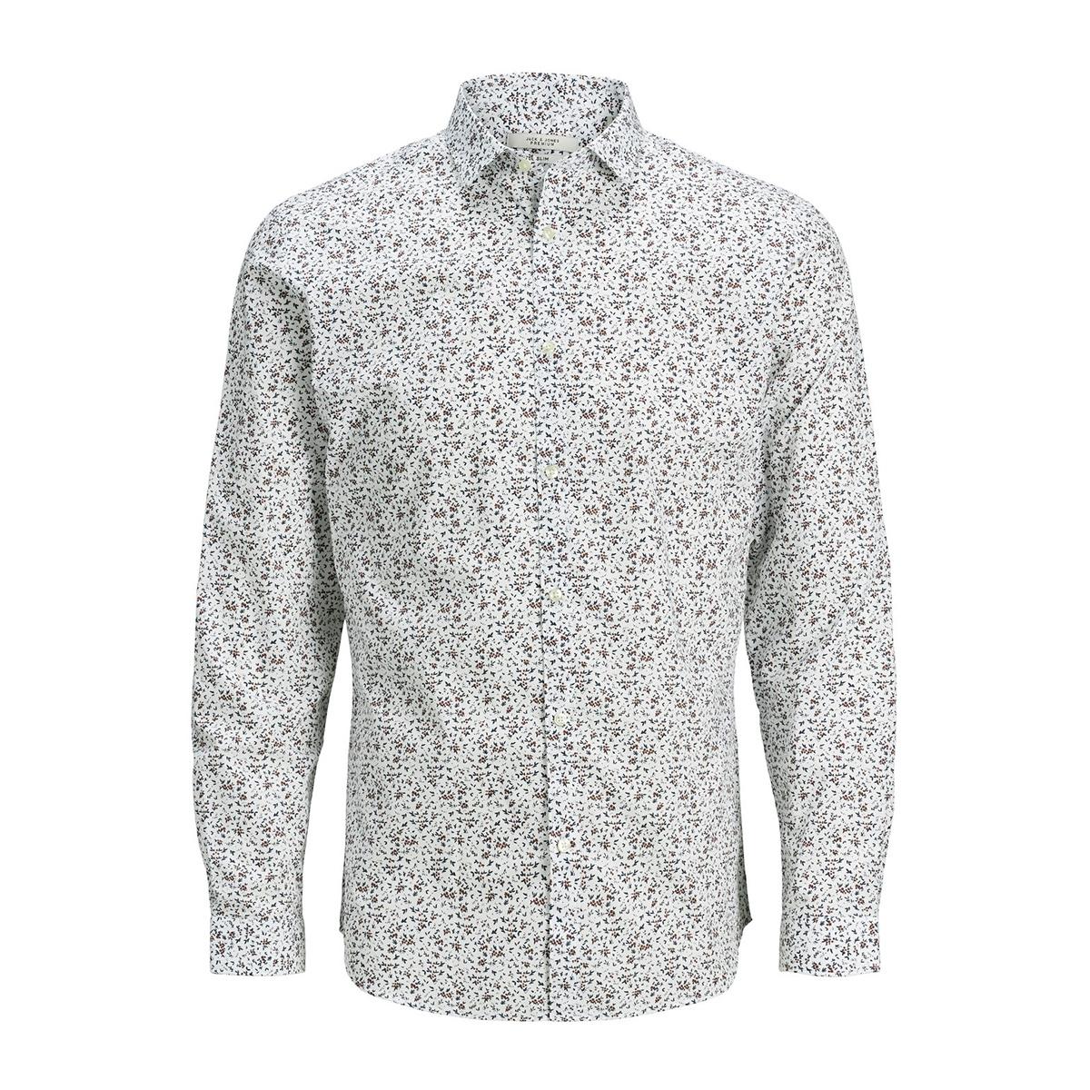 jprblablackpool shirt l/s s20 sts 12168452 jack & jones overhemd umber/slim fit