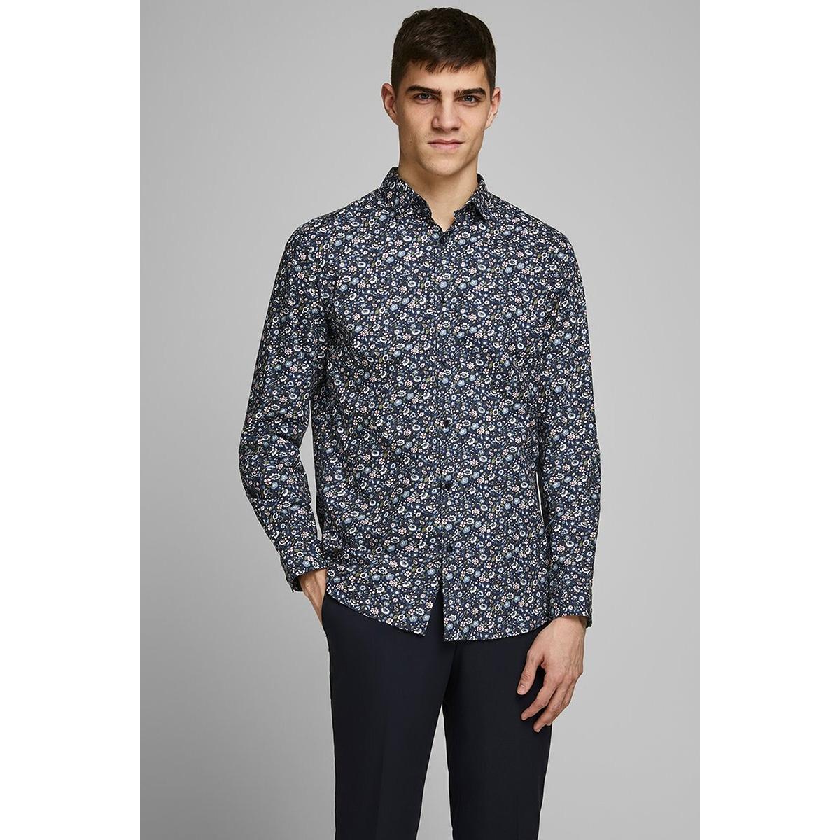 jprblablackpool shirt l/s s20 sts 12168452 jack & jones overhemd navy blazer/slim fit