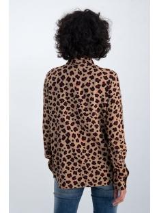 blouse met all over panter print n00230 garcia blouse 1236 safari brown