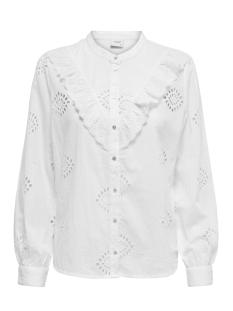 jdyroberta l/s lace shirt wvn 15197115 jacqueline de yong blouse white
