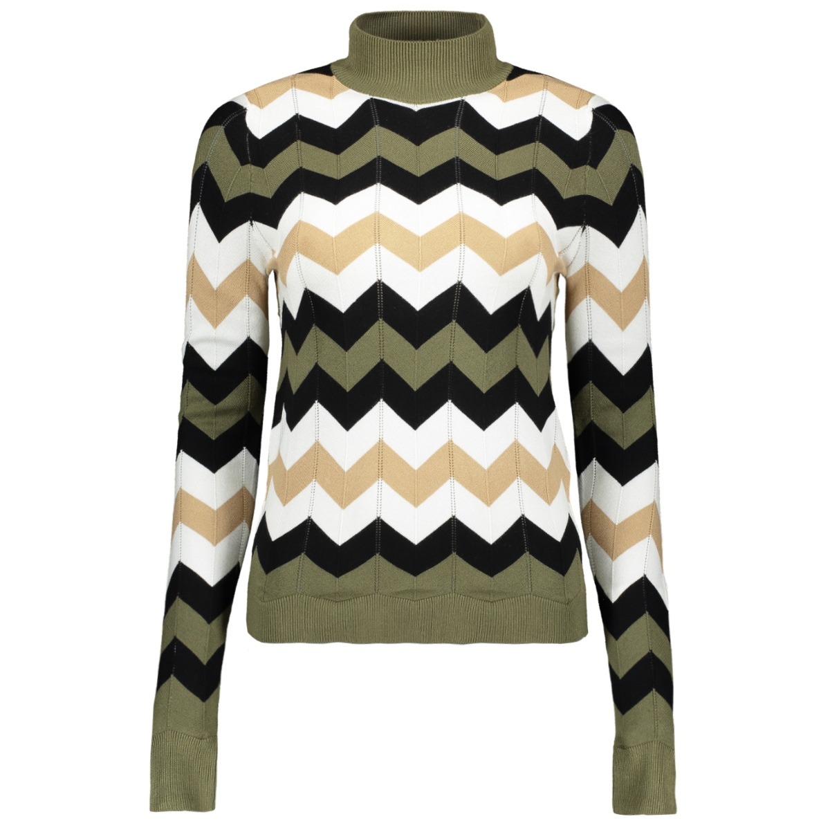 nmjack l/s high neck knit 27008299 noisy may trui dusty olive/with norma