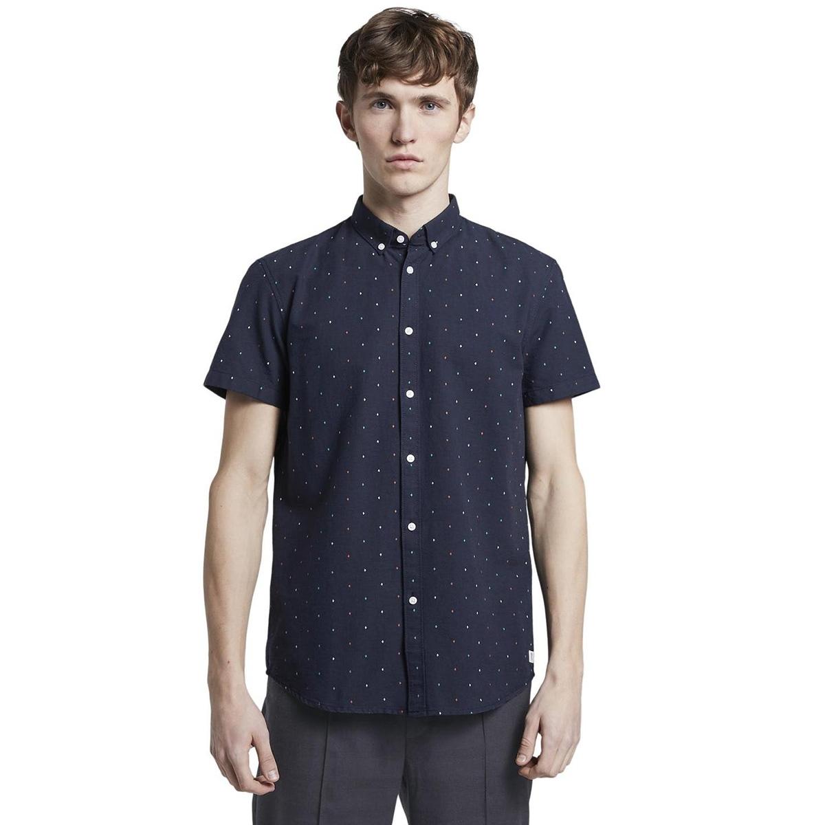 hemd met korte mouwen 1018859xx12 tom tailor overhemd 22815